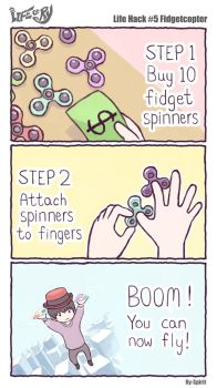 Life of Ry Life Hack #5 - Fidgetcopter by Ry-Spirit