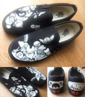 the hermit design Painted Vans by thehermitdesign